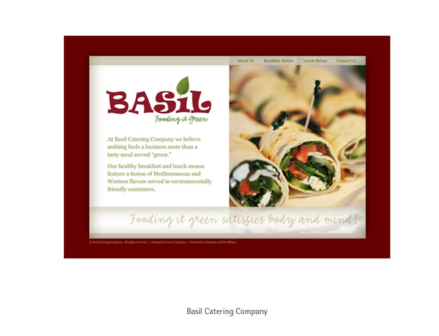 Web design: Basil Catering